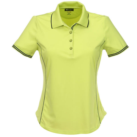 Greg Norman Ladies Short Sleeve Contrast Trim Polo