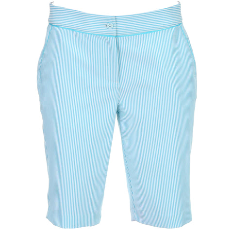Greg Norman Ladies Stripe Ribbon Trim Short