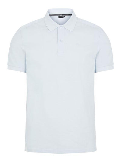 J.LINDEBERG MENS TROY CLEAN POLO SHIRT - SKY BLUE