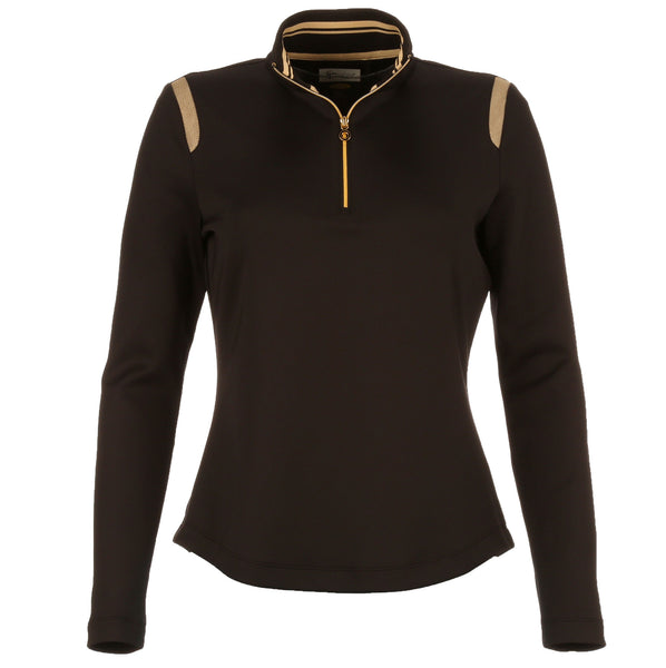 Greg Norman Ladies 1/2 Zip Mesh Trim Pullover