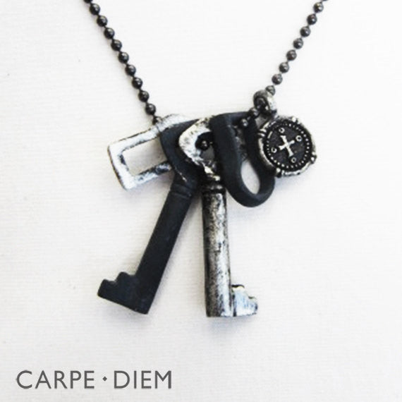 Key To My Heart Two Tone Necklace