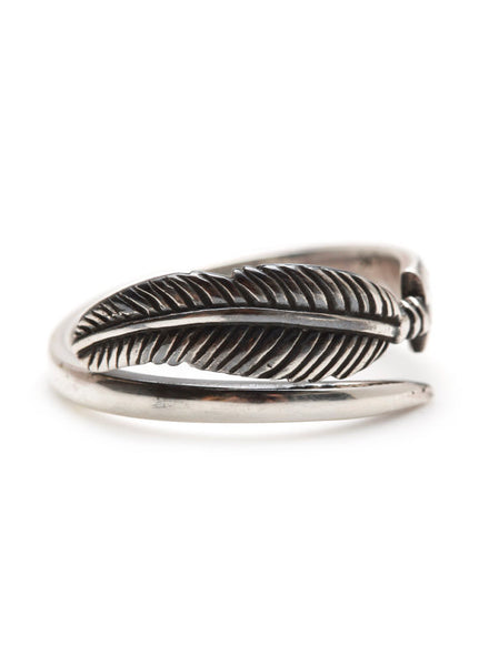 Small Petite Feather Ring