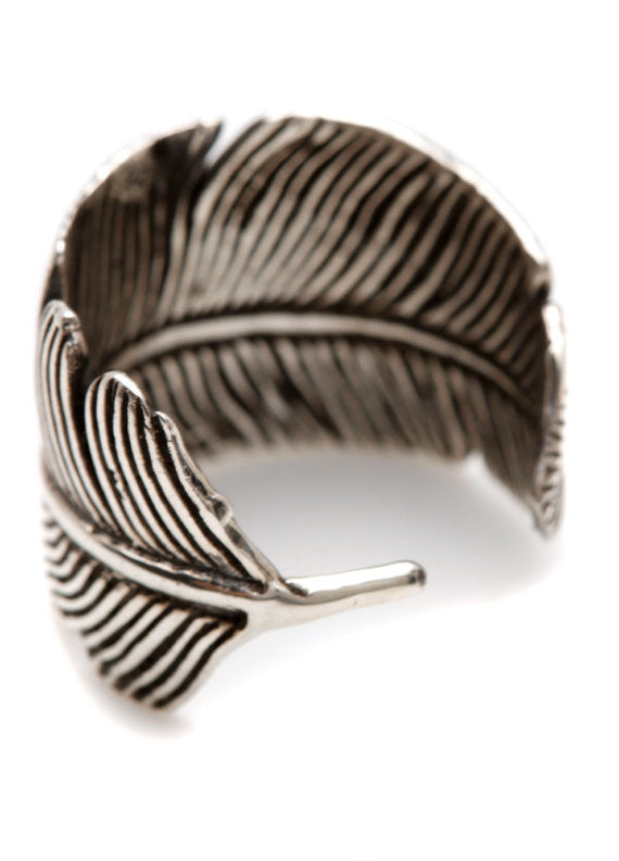 Feathered Ring Silver