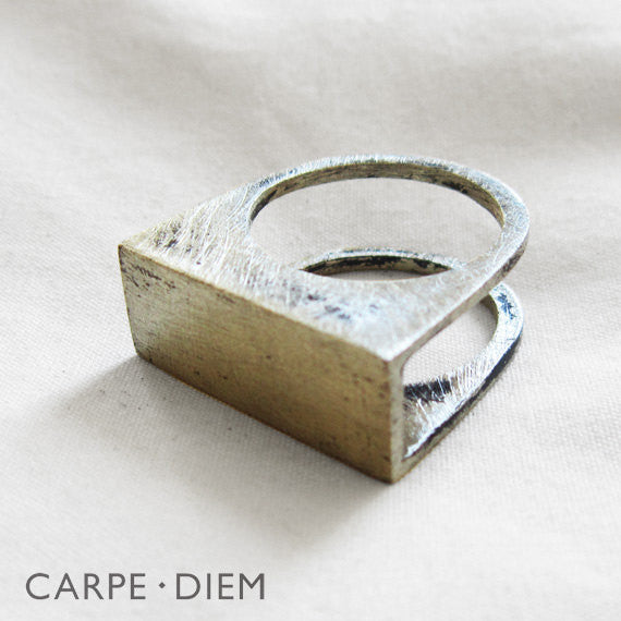 Rectangle Gap Ring Silver
