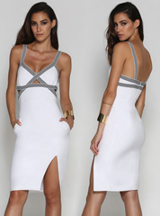 Clara Midi Dress White - SALE