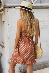BLAIR WRAP DRESS | RUST SPOT