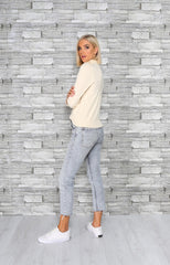 PATSY ROLL NECK | CREAM - SALE