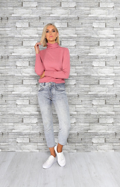 PATSY ROLL NECK | FUCHSIA - SALE