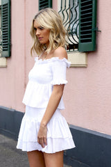 Martina Ruched Top | WHITE