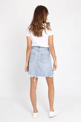 Jaymee Denim Skirt | DENIM