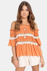 Tuscan Sun Top | ORANGE - SALE