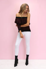 Valencia Ruffle Knit Shiraz REDUCED was $89 now $19