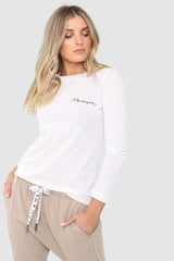 MADISON LONG SLEEVE TOP | WHITE