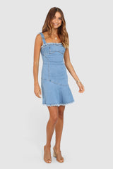 ORCUS DRESS | DENIM