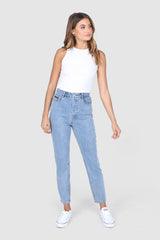 HARLOW MOM JEANS | BLUE DENIM