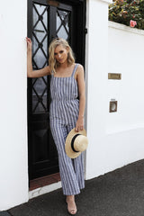 Parisian Pantsuit | CHARCOAL STRIPE - SALE