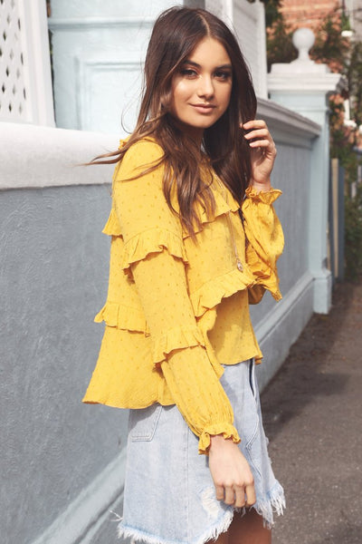 Nadine Top | MUSTARD - SALE