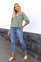 Lana Top | KHAKI - SALE