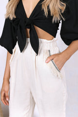 MIRAY CROP | BLACK