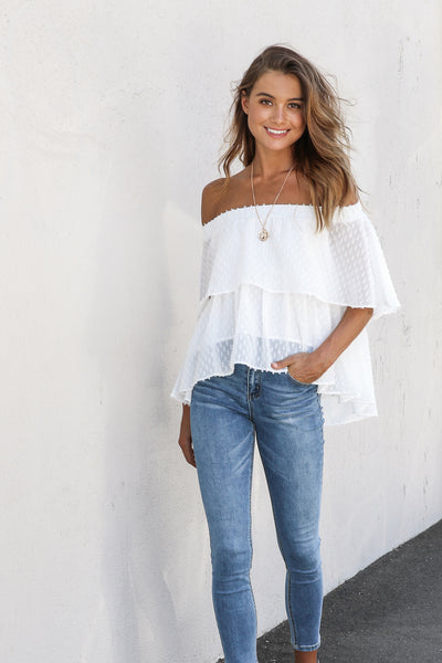 TINY DANCER TOP | WHITE