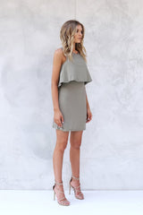 Dominique Dress KHAKI - SALE