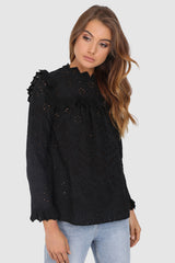 RILEY LACE TOP | BLACK