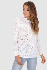 RILEY LACE TOP | WHITE