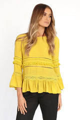 Chantelle Top | MUSTARD - SALE