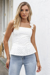 Scarlett Top | WHITE - SALE