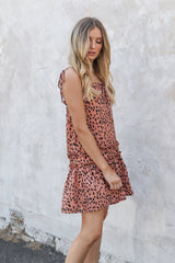 HOLLY BABY DOLL DRESS | PEACH