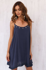 Harlow Dress NAVY REDUCED was $72 now $39