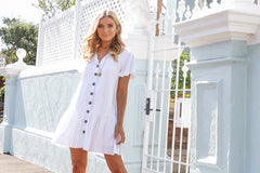 TAYNA DRESS | WHITE