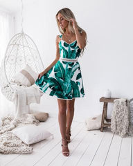 Fiano Dress | LEAF PRINT