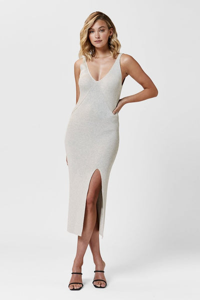 OCEANSIDE KNIT DRESS | BEIGE