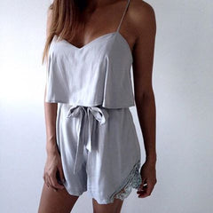 Bonita Lace Playsuit Grey - SALE