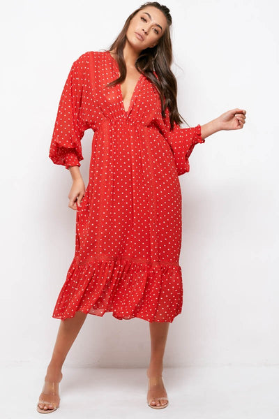 COCO DRESS | RED POLKA DOT