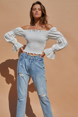 COURTNEY TOP | WHITE - SALE