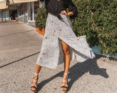DESERT ROSE MIDI SKIRT | PRINT - SALE