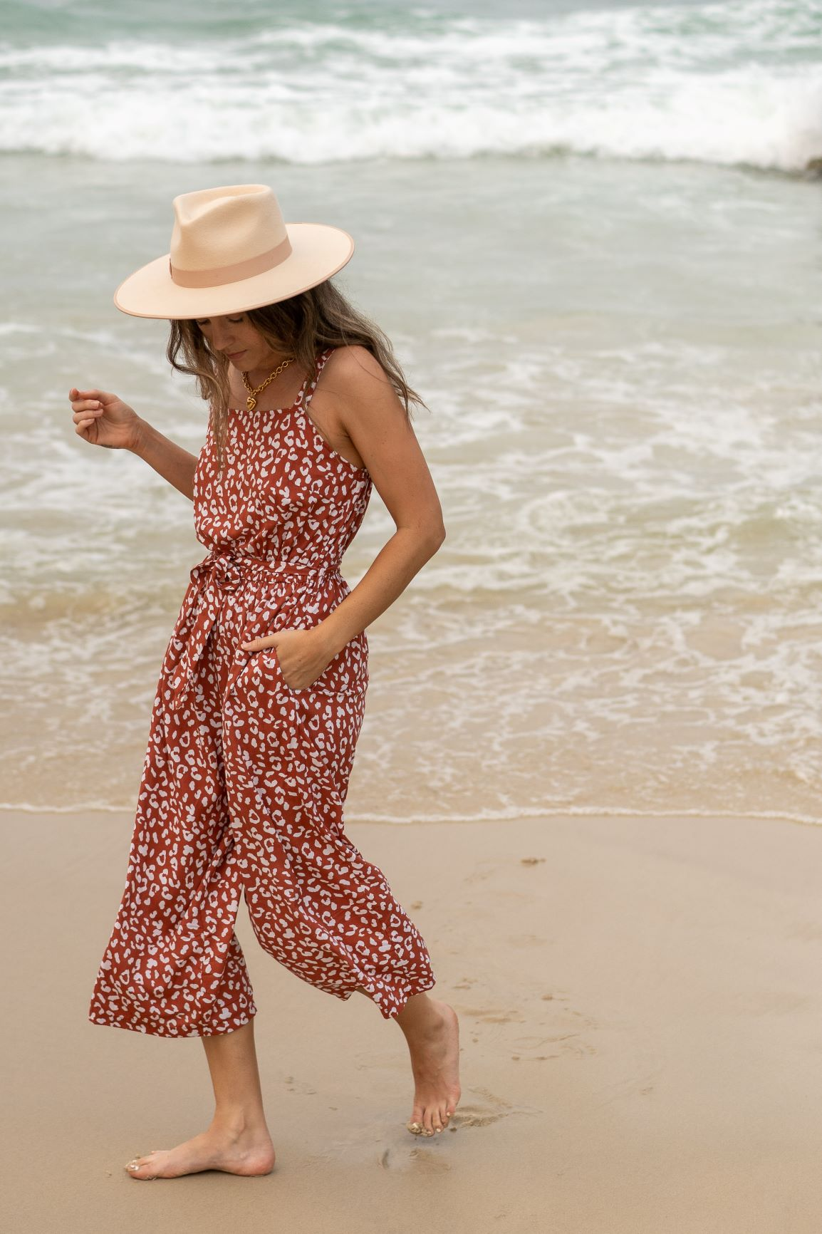 MARRAKESH JUMPSUIT | RUST PRINT