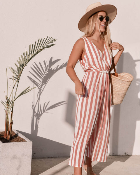 PORTOFINO JUMPSUIT | RED STRIPE