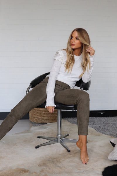 LANA LEGGINGS - KHAKI - SALE
