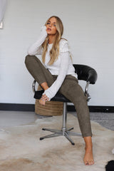 LANA LEGGINGS - KHAKI