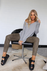 MIKAYLA KNIT | GREY - SALE