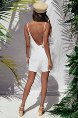 JUNGLE PLAYSUIT | WHITE