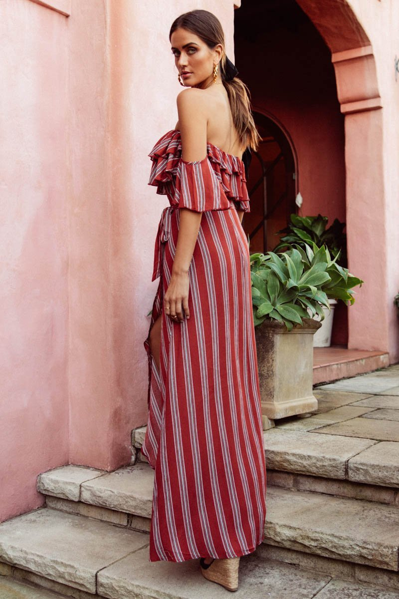 Lotte Maxi Dress | RUST - SALE