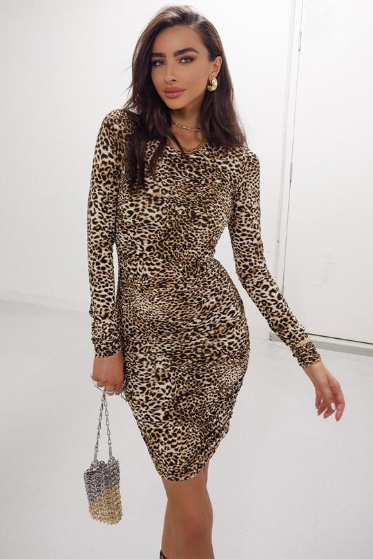 LILIYA DRESS | LEOPARD