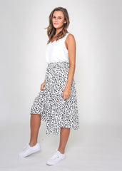 PIPER SKIRT |  BLACK ANIMAL PRINT