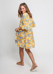 BYRON DRESS | YELLOW LEAF - SALE