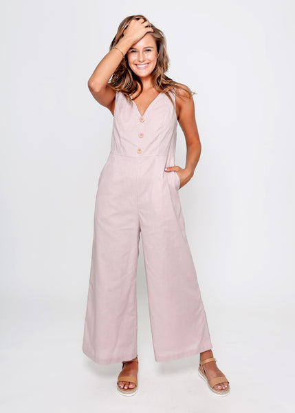 NADIA JUMPSUIT | ROSE PETAL - SALE