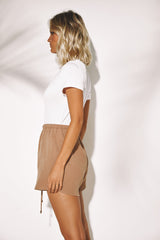 THEO COTTON SHORTS | TAN